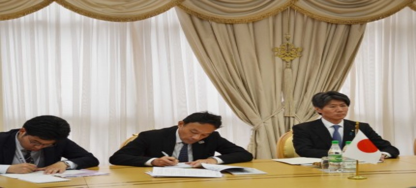 MEETING WAS HELD WITH THE STATE MINISTER OF ECONOMY, TRADE AND INDUSTRY OF JAPAN