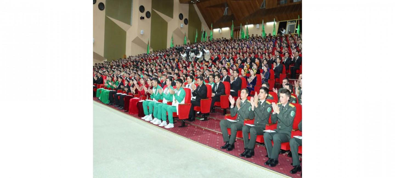 PRESIDENT GURBANGULY BERDIMUHAMEDOV ATTENDED THE VI CONGRESS OF THE YOUTH ORGANIZATION OF TURKMENISTAN NAMED AFTER MAKHTUMKULI