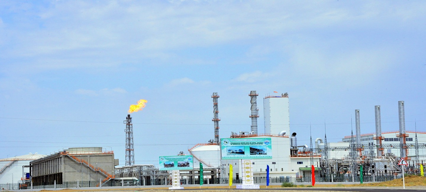 THE OPENING CEREMONY OF A GASOLINE PRODUCTION PLANT FROM NATURAL GAS IN AHAL