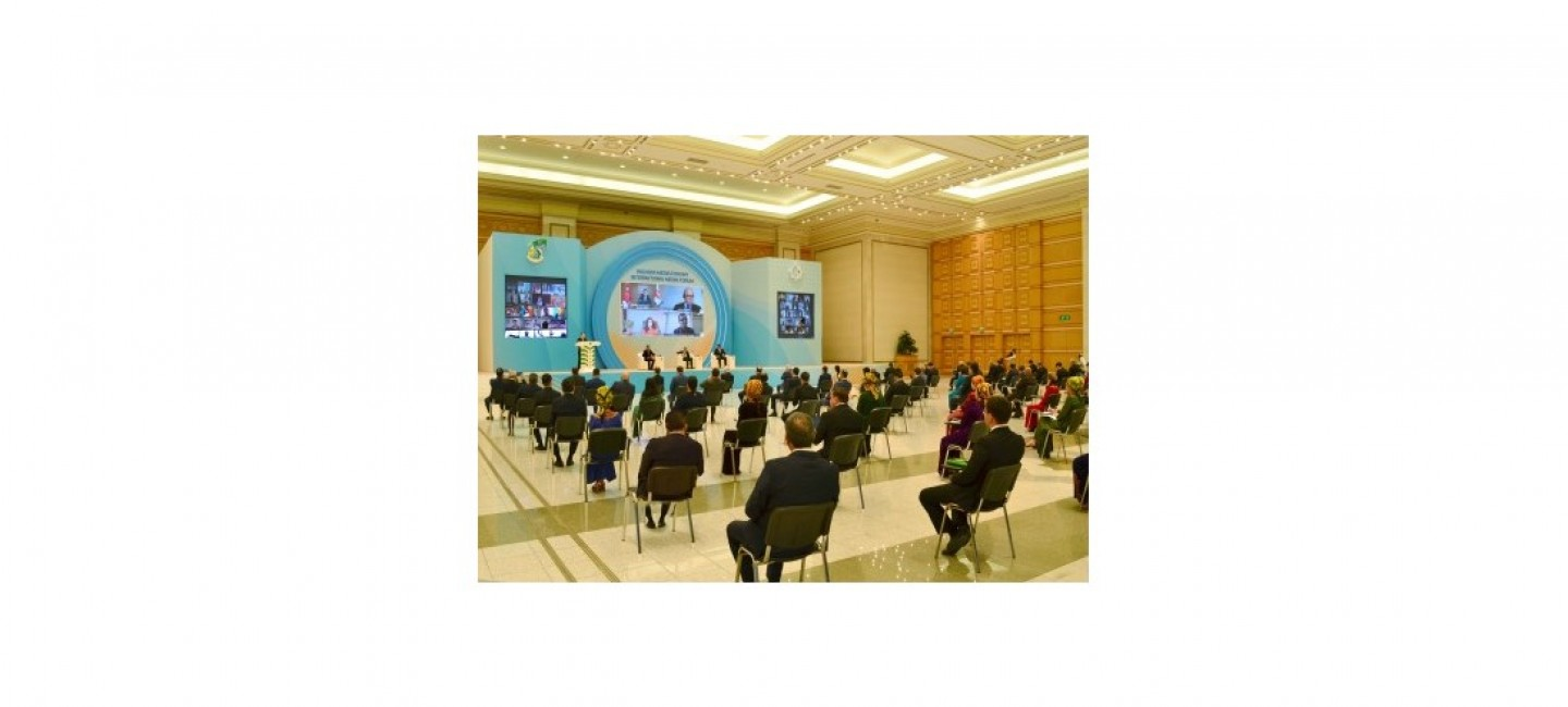 INTERNATIONAL MEDIA FORUM DEDICATED TO THE 25TH ANNIVERSARY OF THE PERMANENT NEUTRALITY OF TURKMENISTAN AND THE ELECTION OF OUR COUNTRY AS VICE-CHAIRMAN OF THE 75TH SESSION OF THE UN GENERAL ASSEMBLY WAS HELD IN ASHGABAT