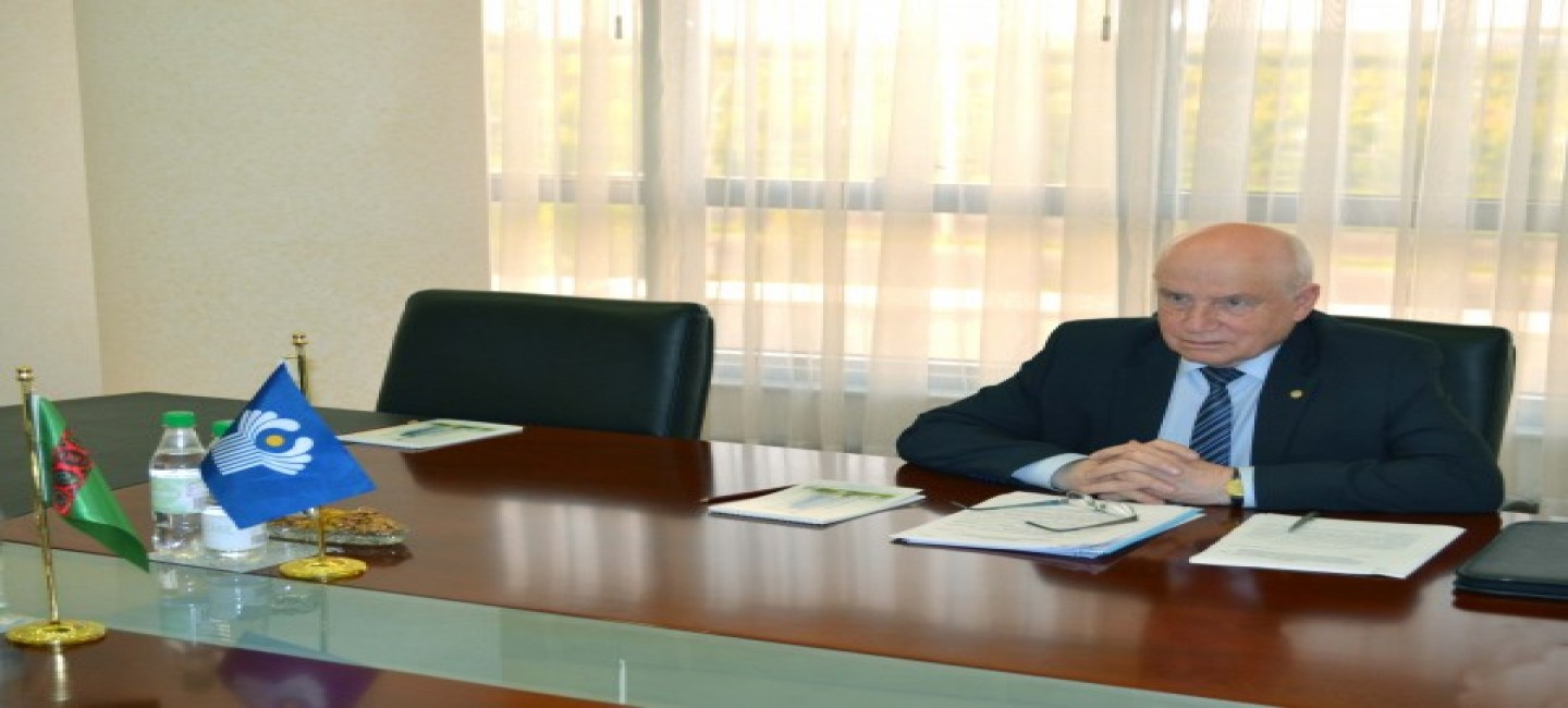 HEAD OF THE MFA OF TURKMENISTAN MET WITH THE CHAIRMAN OF THE CIS EXECUTIVE COMMITTEE - EXECUTIVE SECRETARY