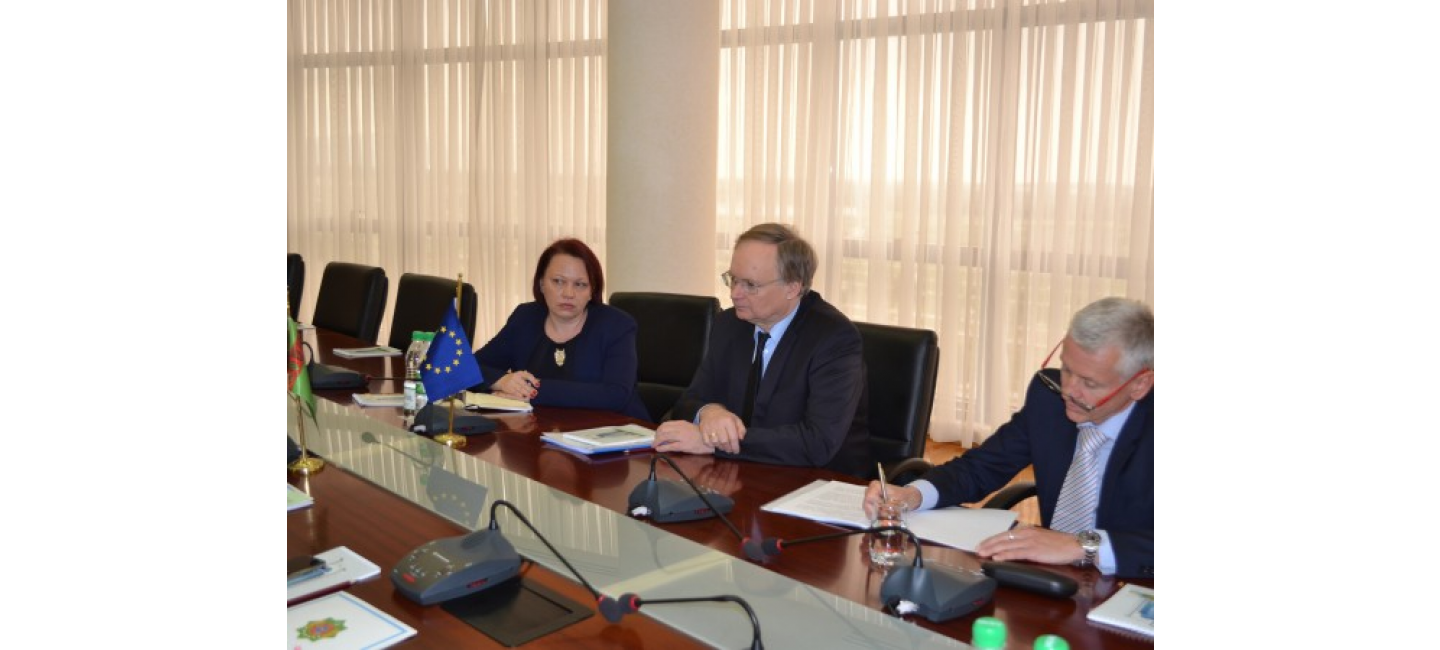 A MEETING WAS HELD AT THE MINISTRY OF FOREIGN AFFAIRS OF TURKMENISTAN WITH THE DELEGATION OF THE EUROPEAN UNION