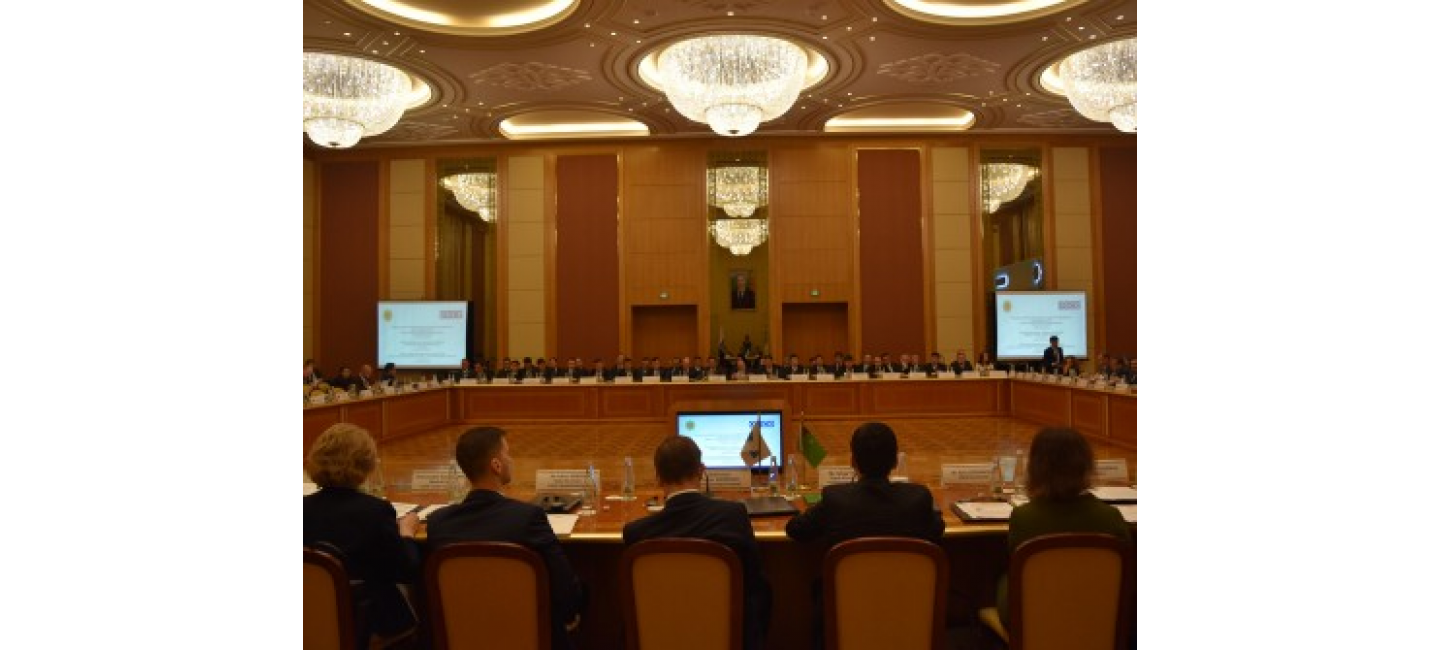 OSCE HIGH-LEVEL REGIONAL CONFERENCE ON COUNTERING TERRORIST FINANCING AND ORGANIZED CRIME HOSTED IN TURKMENISTAN