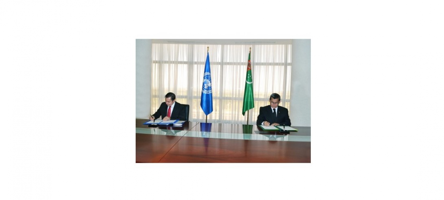 JOINT PROGRAM OF THE GOVERNMENT OF TURKMENISTAN AND THE UN SIGNED IN ASHGABAT