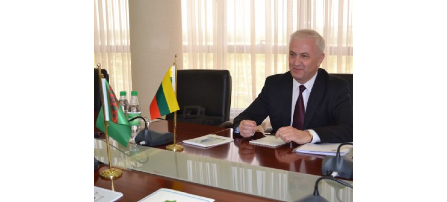 A MEETING WITH THE AMBASSADOR OF THE REPUBLIC OF LITHUANIA WAS HELD AT THE MFA OF TURKMENISTAN